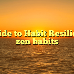 A Guide to Habit Resilience