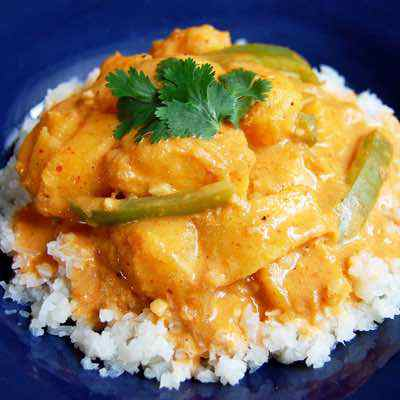 Vegetarian Thai Red Curry with Squash
