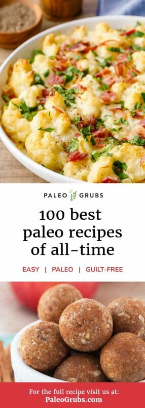 100 Best Paleo Diet Recipes- the best list of Paleo recipes out there. Organized by meal and category. Love it!