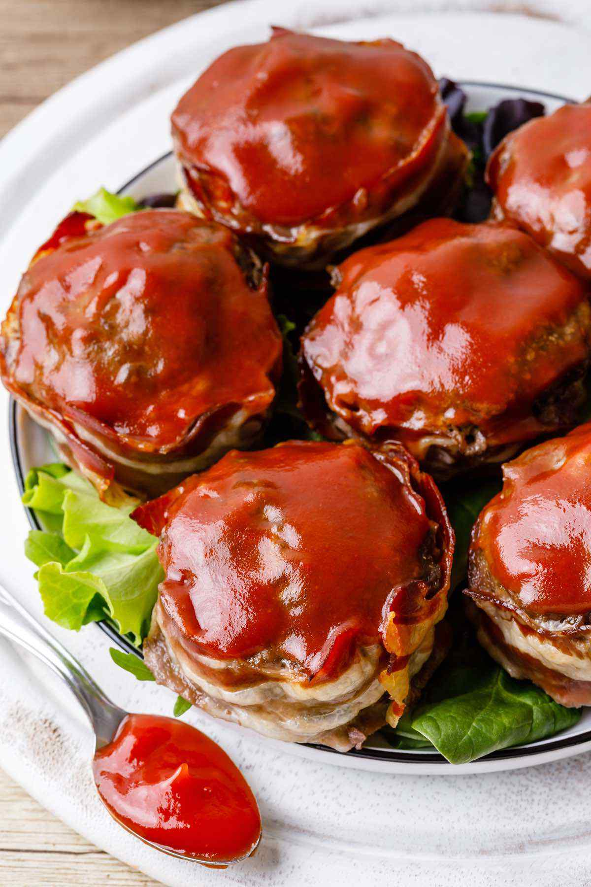 Bacon-Wrapped Paleo Meatloaf Muffins